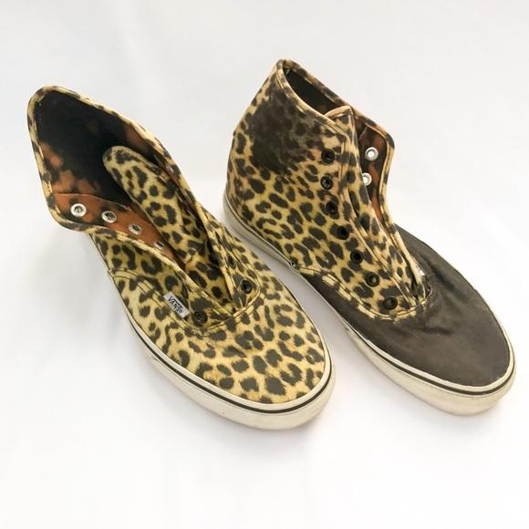 bc48fbfc2374 Vans Shoes | 3 For 20 High Top Cheetah Sneaker Sz 85 | Poshmark